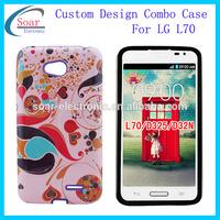fashion cell phone design case silicon pc combination for lg optimus l70