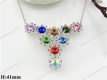 Exotic mystic gemstone men's heavy necklace