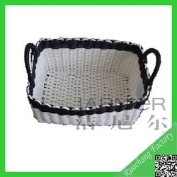 Environmental plastic fruit basket,plastic storage baskets,pp woven baskets