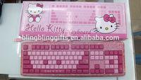 45 colors Mixed wholesale fashion Kitty beaded keyboard cute promotion keyboard