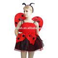 Fiesta de halloween chica de animales para niños de la mariquita traje mac-3