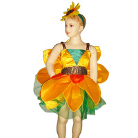 Party Carnival girl sunflower Fairy costume for kids MAC-5