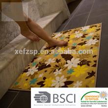 100% polyester printed mat,custom print mat,printed bath mat