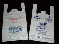 Die cut hdpe transparent plastic bags 25kg