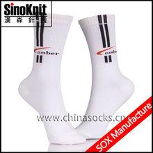Comfortable Basketball 100 Cotton Dress Socks Men