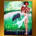 toptan modern renkli soyut seks kadın ve hayvan güzel duvar sanat yağlıboya