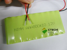 ni-mh battery pack AAA 800amh 12v battery /12v rechargeable battery