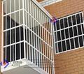 con recubrimiento en polvo galvanizado sumergido de acero de la ventana de la guardia de seguridad proteger la casa
