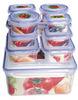 2014 High quality 12pcs walmart clear lunch box sets