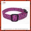 Bright Pink Animal Print Dog Collar