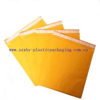 100% Recyclable Self Sealing Gold Kraft Bubble Paper Bag Envelope