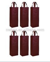 2014 drawstring fabric wine gift bags wholesale,bottle bag,hot sale wine bag
