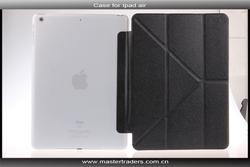 Three fold Silk print Slim Smart PU Flip Leather Case For iPad Air MT-1899