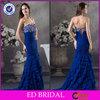 2014 New Style Sheath Royal Blue Sweetheart Beaded Multi-Layers Long Train Girls Party Dresses