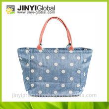 2014 promotional canvas washing bag foldable zipper nylon tote bag