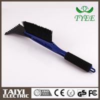 TYEE black long handle ice scraper with brush