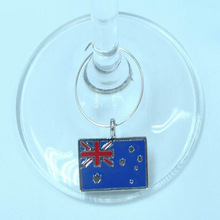 custom made metal wine charm for foreign branded wine charm