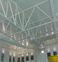 china light prefabricated space grid frame structure