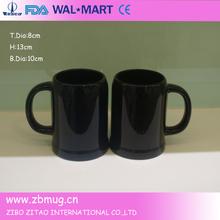 Black color Ceramic Beer Mug, Ceramic Beer Stein