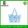 Wholesale cotton canvas beach bag for ladies, recycle and durable flower canvas bag