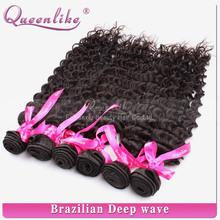 Complete cuticle deep wave brazilian hair 6a virgin brazilian virgin human hair for sale