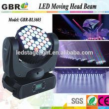 Pro light 36PCS*3W RGB Color Changing Emitting LED Moving Head Beam Disco Bar light