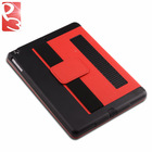 Red Flip Leather Back Case for iPad Air Stand Cover, Simple Fashion Design with Retail Package