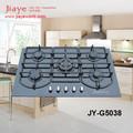 Skd ckd opcional 5 queimador de fogão a gás com 8mm painel de vidro temperado jy-g5038