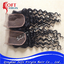 European hair lace front closures middle parting deep wave 3.5*4size remy lace front closure with baby hair