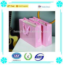 2014 printed custom made shopping bags luxury craft paper bag