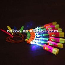 Alibaba Express hot selling flying arrow amazing helicopeter LED flying arrow, shining umbrella, Led toy