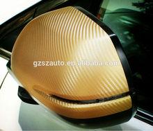 """Auto color sticker PVC 50""""X100' 3d gold carbon fiber"""