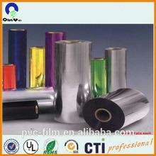 3mm color super clear transparent PVC plastic rigid sheet in roll