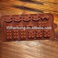 Nicole B0044 3D mini carro cavalo de madeira e bonito urso forma silicone moldes de chocolate