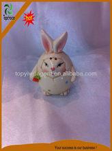 Little Rabbit Shape Porcelain Model with Red color Flower for Easter Decoration