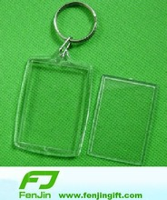 Rectangle Blank clear plastic key tags