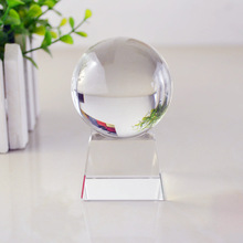 Crystal Globe Award Trophy on a Paragon Clear Round Base MH-Q0196