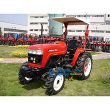 204 modeli 20hp Jinma mini traktör fiyat yüksek miktar çiftlik ekipmanları kullanılan traktör satışı 4 1 ön yükleyici