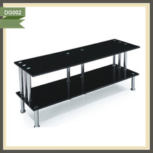 LCD and Plasma Glass TV Stand with cable management