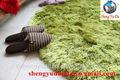 forma redonda de un espeso de color de pelo largo una buena densidad de seda de poliéster shaggy alfombras y tapetes