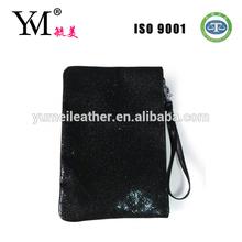 High quality newest fashion ladies' black glitter purse