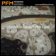 natural pulido bien hermosa figura decorativa medallón de cerámica