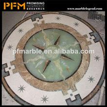 venta al por mayor bien pulido hermosa iglesia medallón de cerámica