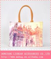 hot sale fashion hot photo cotton Digital print women shoulder women bag