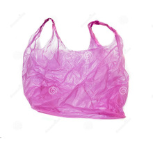 Die cut recycle plastic bag shopping bag