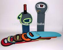 neoprene single wine bottle cooler tote bag