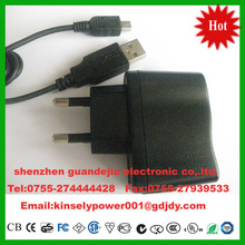 Europe 5.5v 1.5a usb plug power adapter for phone