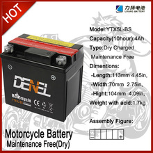 12v High Performance Dry Charged Motorcycle Battery (sealed lead acid battery 12v 4ah)