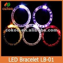 Party Decoration LED flashing bracelet / Glow Bracelet / LED Bracelet 2014 hot sale