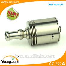 2014 Alibaba express e cig double air flow holes rda atomizer atty atomizer